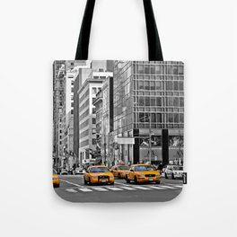 NYC - Yellow Cabs - Police Car Tote Bag