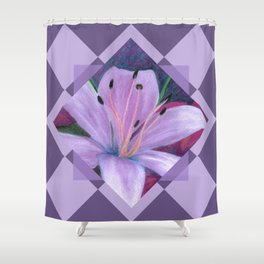 Lavenders and Diamonds Shower Curtain