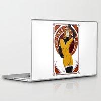nouveau Laptop & iPad Skins featuring Leonis (Nouveau) by Andrew Formosa