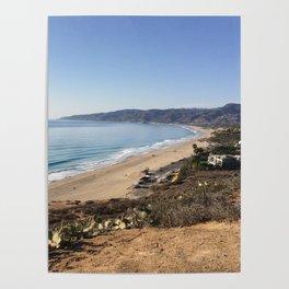 Malibu, California - Coastline Poster