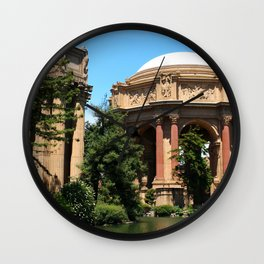 View Over The Lagoone To The Palace Of Fine Arts - San Francisco Wall Clock