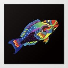 Rainbow parrot fish -2 Canvas Print