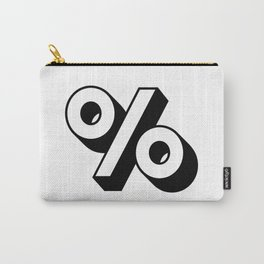 Percent % Carry-All Pouch
