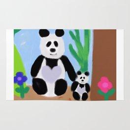 It's a Panda's World of Love #4 Rug