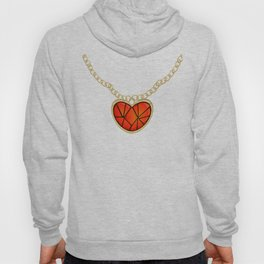 Jeweled Heart Locket Hoody