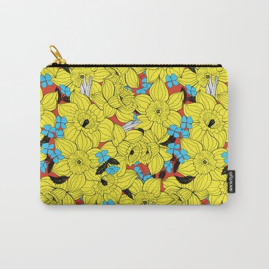 Daffodils spring floral pattern Carry-All Pouch
