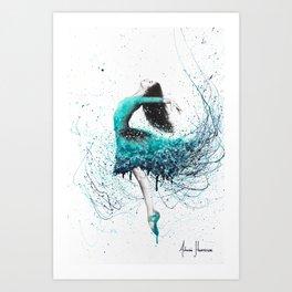 Turquoise Ocean Dancer Art Print