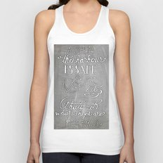 Chalkboard hand-lettered motivational quote Unisex Tank Top