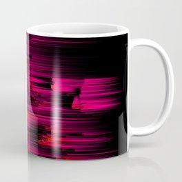 Burnout - Glitch Abstract Pixel Art Coffee Mug