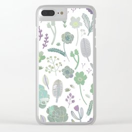 Wild Bloom Clear iPhone Case