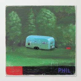 airstream trailer - by phil art guy Canvas Print