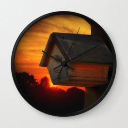 PLEASE COME HOME Wall Clock