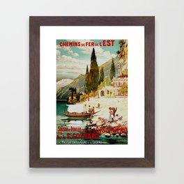 Switzerland and Italy Via St. Gotthard Travel Poster Framed Art Print