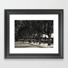 Night and lights Framed Art Print