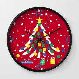 Christmas Tree In Snow Wall Clock