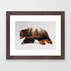Travelling Bear Framed Art Print
