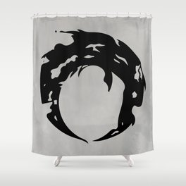 A glint of light - black Shower Curtain