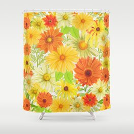 Daisy Collage Shower Curtain