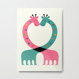 Love With Heart Metal Print