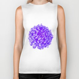 Purple Pop Art Inspired Flower Biker Tank
