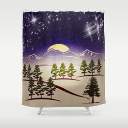 Background christmas snow figure Shower Curtain