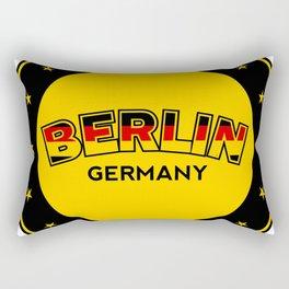 Berlin, circle, black Rectangular Pillow