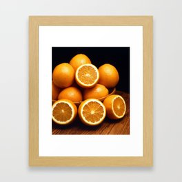 Oranges Piled Up Framed Art Print