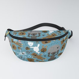 Crazy MonkeyTeddyBears Pattern Fanny Pack