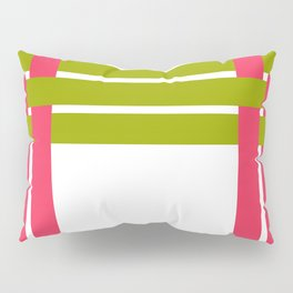 The intertwining pink and green ribbons Pillow Sham