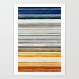 Colorbands Yellowstone Art Print