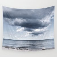 denmark Wall Tapestries featuring Looking for the clouds by UtArt