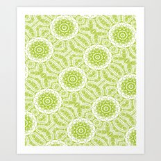 Botanic Mandala Repeat Art Print