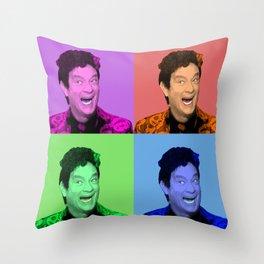 David S. Pumpkins - Any Questions? - Pop Art Throw Pillow