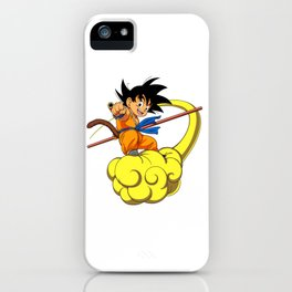 Kid Goku On magic cloud iPhone Case
