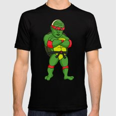 Teenage Putin Ninja Turtle X-LARGE Black Mens Fitted Tee