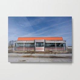 An Abandoned Diner Metal Print