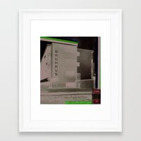 bauhaus Framed Art Prints featuring BAUHAUS by Roderick Smith