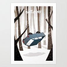 Rollover Art Print