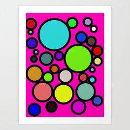 Circles Galore! Art Print