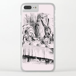 Blush pink - mad hatter's tea party Clear iPhone Case