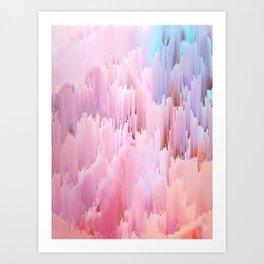 Delicate Glitches Art Print