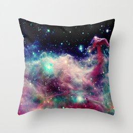 Eagle Nebula / Horsehead Nebula Deep Pastels Throw Pillow