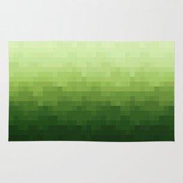 Gradient Pixel Green Rug