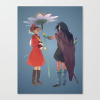 calcifer Canvas Prints featuring The Secret World by CromMorc