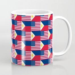 Mix of flag: philippines and Usa Coffee Mug