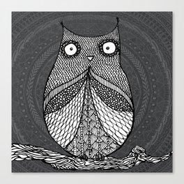 Doodle Owl Canvas Print