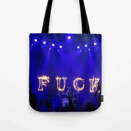 Cause I fell in love with a girl at the rock show Tote Bag