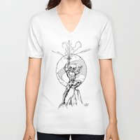 thundercats V-neck T-shirts featuring Lion-O Thundercats by GPap
