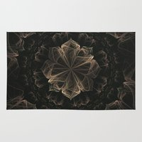 ornate Area & Throw Rugs featuring Ornate Blossom by Charma Rose