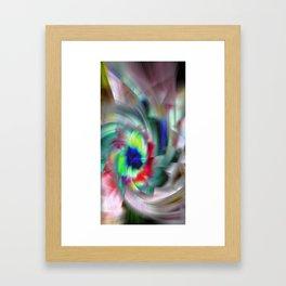 Abstract Color Wheel Framed Art Print